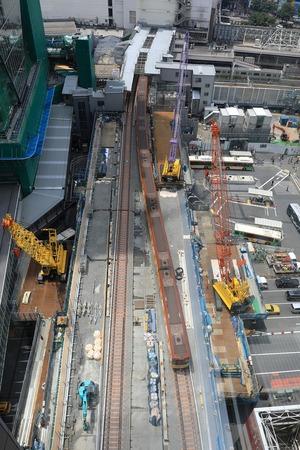 京メトロ銀座線渋谷駅移設工事