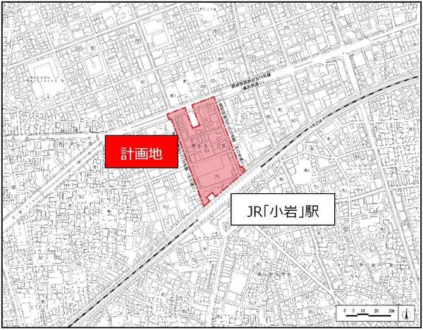 JR小岩駅北口地区第一種市街地再開発事業 位置図