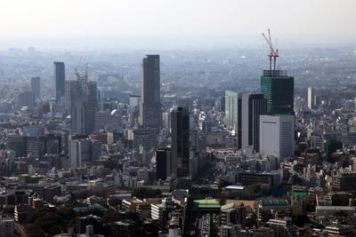 六本木ヒルズから渋谷方面の眺め