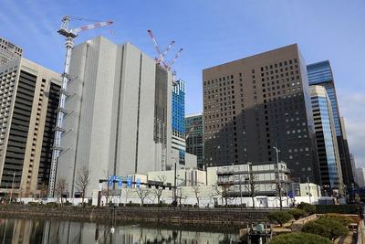 りそなマルハビルと三菱東京UFJ銀行大手町ビルの解体工事