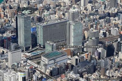 (仮称)神田練塀町地区第一種市街地再開発事業の建設地の空撮