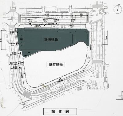 (仮称)ヨドバシ梅田タワー 配置図