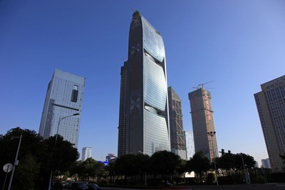 中国広州のPearl River Tower(珠江大厦)