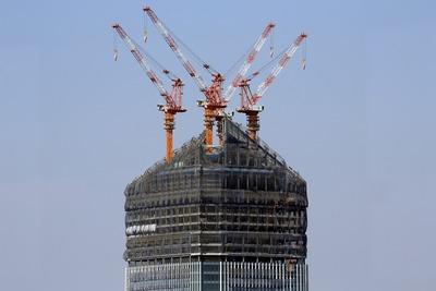世界貿易センターから見た虎ノ門ヒルズ(環状二号線プロジェクト)