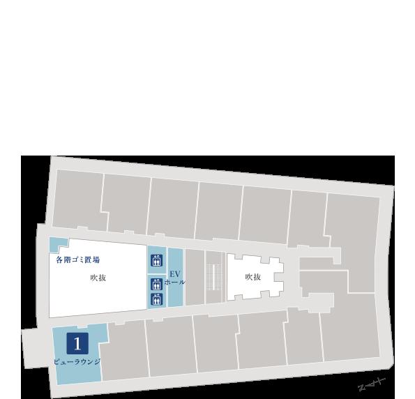 ブランズタワー大船 20階平面図