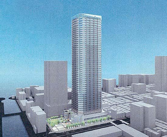 月島三丁目南地区第一種市街地再開発事業 完成イメージパース