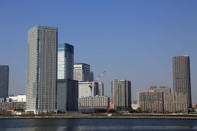 豊洲から見た晴海の超高層ビル群