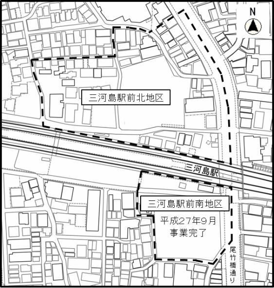 三河島駅前北地区再開発 区域図