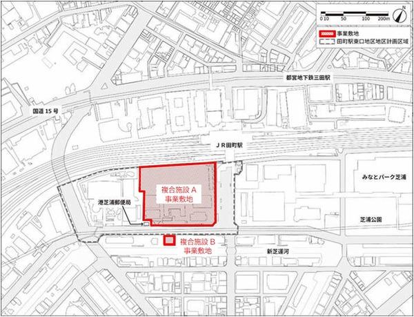 東京工業大学田町キャンパス土地活用事業 位置図