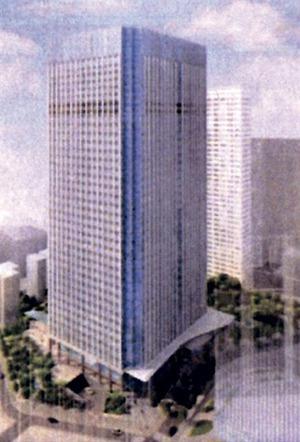 (仮称)虎ノ門四丁目プロジェクトの完成予想図