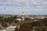 栃木県庁舎 本館から宇都宮タワー方面