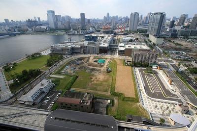 豊洲シエルタワーから見た豊洲二丁目駅前地区第一種市街地再開発方面