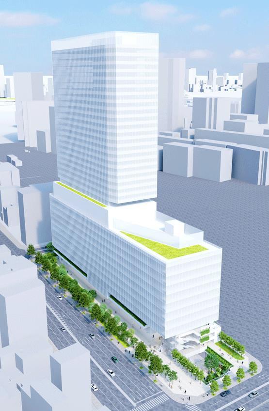 東京都市計画事業泉岳寺駅地区第二種市街地再開発事業 イメージパース