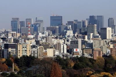 東京都庁から見た大手町・丸の内方面
