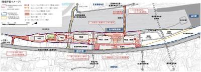 品川駅北周辺地区 整備平面イメージ