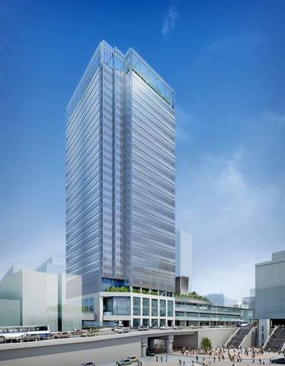 新宿駅新南口ビル(仮称)の完成イメージ図