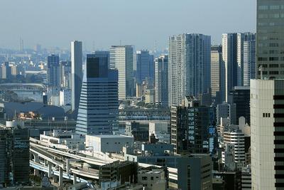 コンラッド東京から見た天王洲アイル方面の眺め