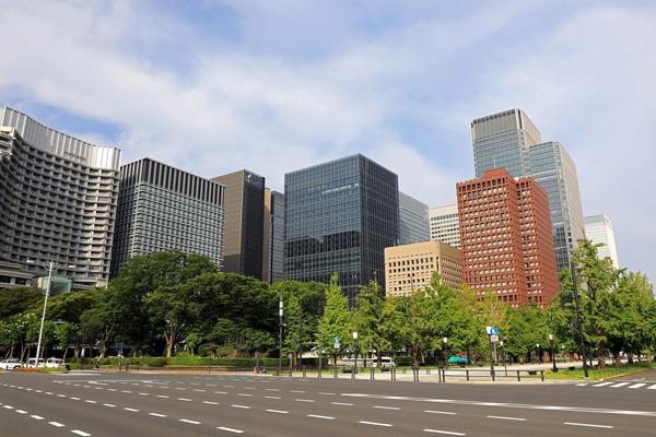 丸の内の超高層ビル群
