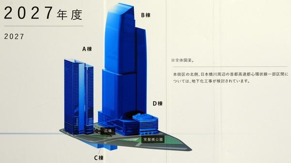 東京駅前常盤橋プロジェクト 2027年度