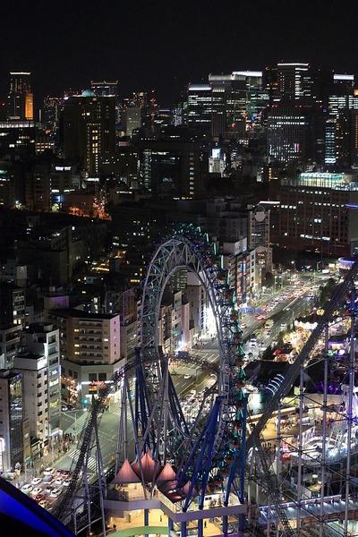 大手町の超高層ビル群の夜景