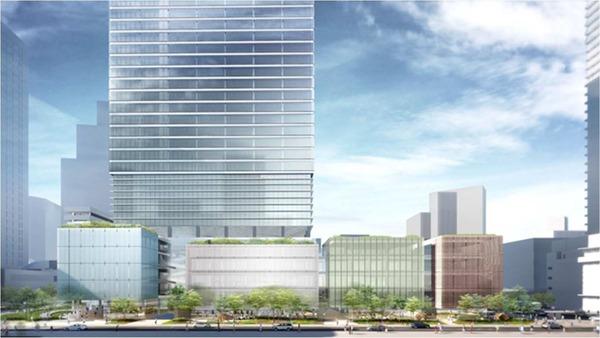 東京工業大学田町キャンパス土地活用事業 複合施設 A 低層部外観(南側)