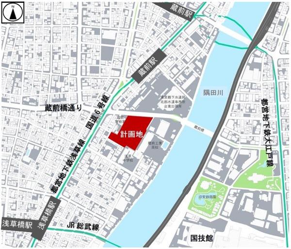 蔵前一丁目開発事業 位置図