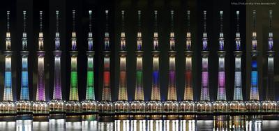 東京スカイツリーのライトアップ全13種類