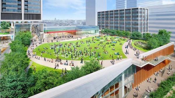 中野駅新北口駅前エリア拠点施設整備事業 屋上広場完成予想パース