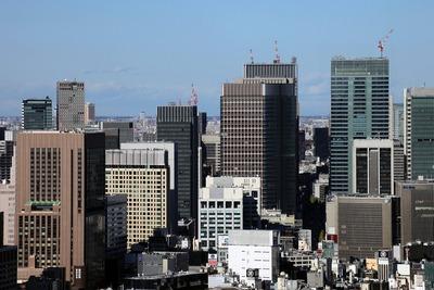 世界貿易センタービルから見た丸の内の超高層ビル群