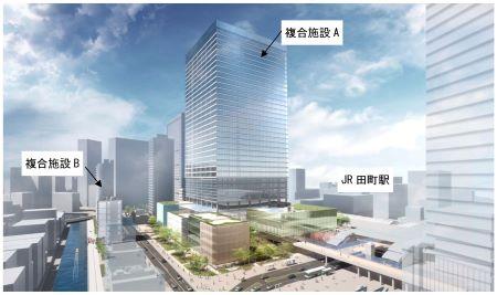 田町キャンパス土地活用事業 全体俯瞰図