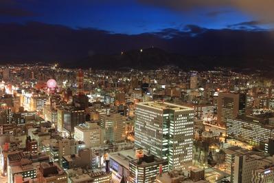 JRタワーから雪の札幌