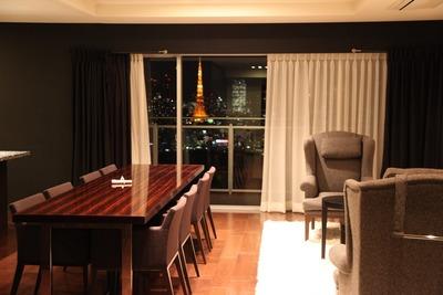 勝どきビュータワーから見た東京タワーの夜景