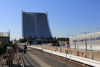 東京港トンネルの換気塔