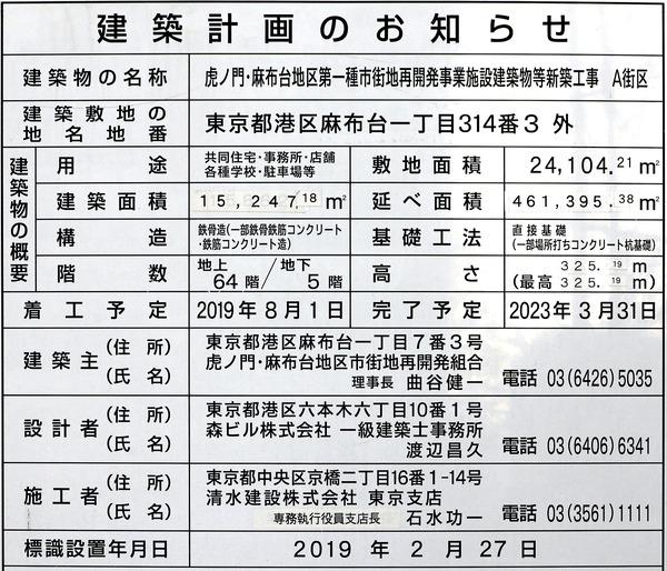 虎ノ門・麻布台プロジェクト メインタワー(A街区) 建築計画のお知らせ