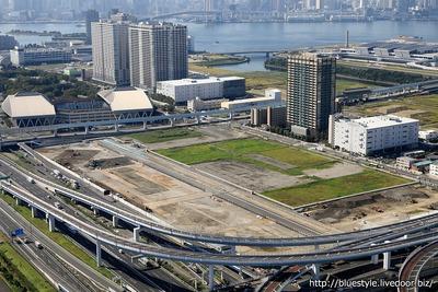 有明ガーデンシティの建設地の空撮