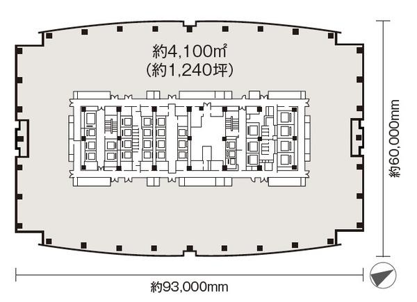 東京ミッドタウン八重洲 基準階平面図