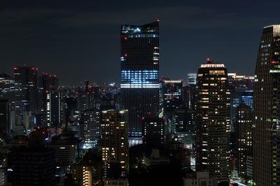 東京タワーから虎ノ門ヒルズ方面の夜景
