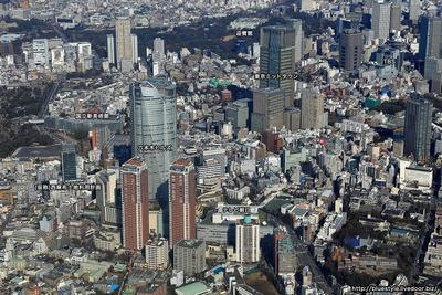 六本木・赤坂方面の空撮