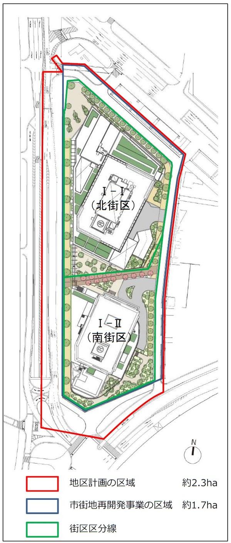 南池袋二丁目C地区第一種市街地再開発事業 配置図