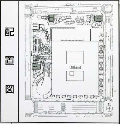 (仮称)神田錦町二丁目計画 配置図