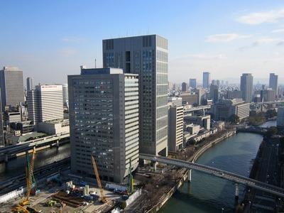 アパホテル<大阪肥後橋駅前>からの眺め
