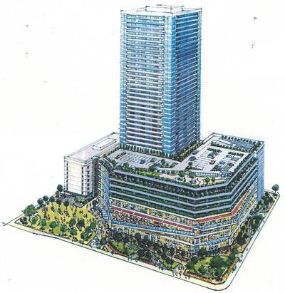 佃2丁目地区の完成予想図