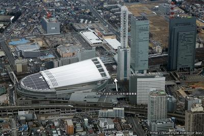さいたま新都心ビル(仮称)新築事業の建設地の空撮
