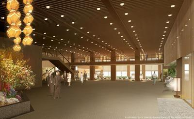 ホテルオークラ東京本館ロビーイメージ図