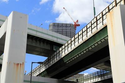 阿波座JCTとOMPタワー