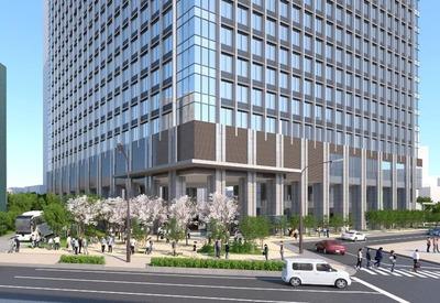 (仮称)赤坂二丁目プロジェクト エントランス広場イメージ