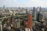 JWマリオット上海の38階ロビーから眺め