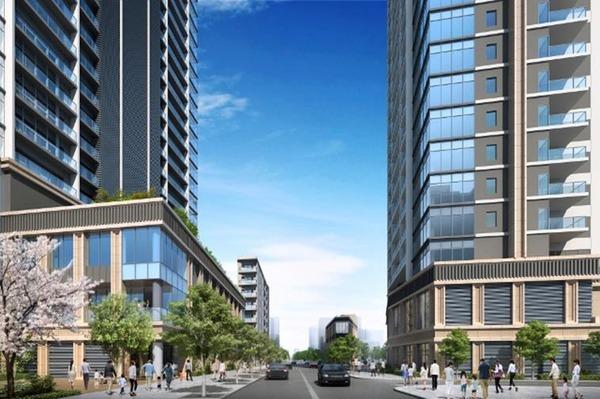 大山町クロスポイント周辺地区第一種市街地再開発事業 イメージパース