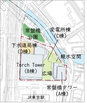 TOKYO TORCH 再整備後配置図