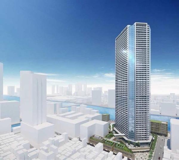 月島三丁目北地区第一種市街地再開発事業 建物外観完成イメージ